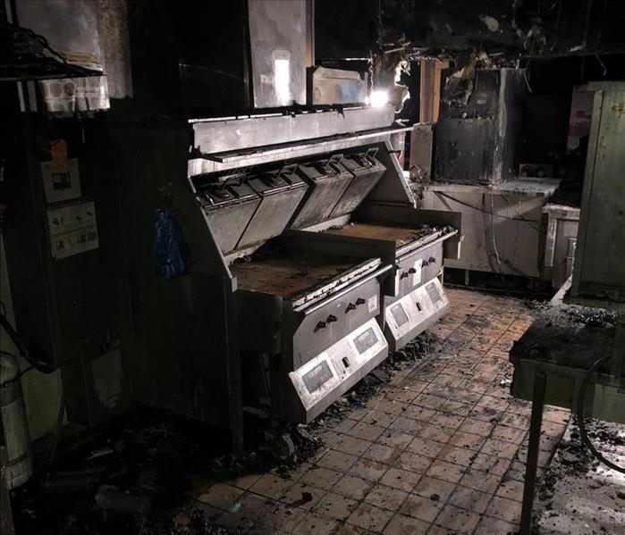 Fire Damage in Commercial Kitchen
