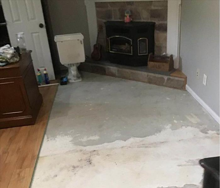Flooring demo after a water leak.