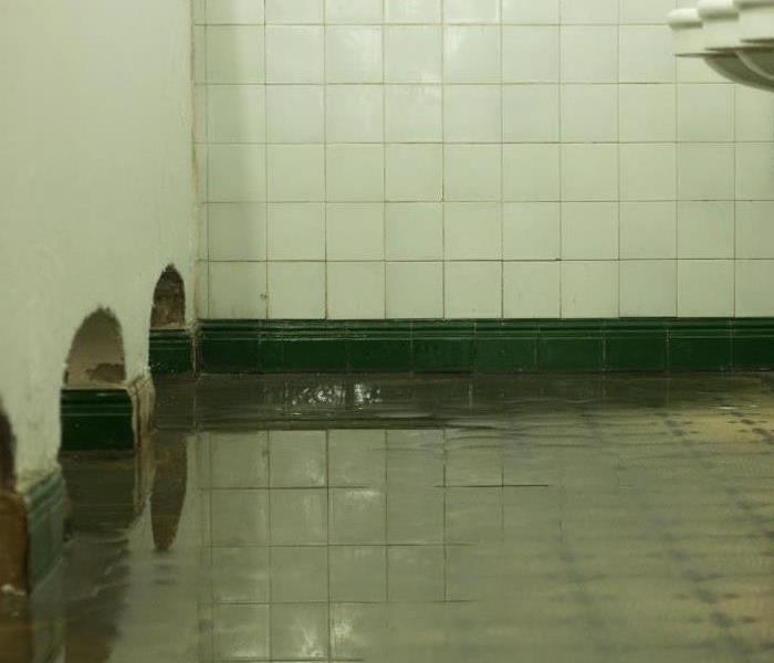 Flooded room.