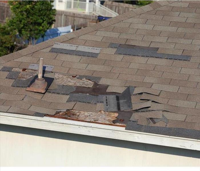 Roof damage!